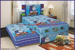 2in1 thomas n friends, kasur anak murah