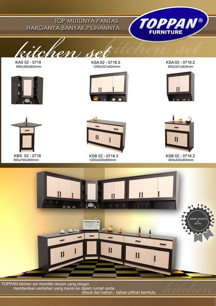 Index of klasifikasi gambar meja tulis uno2013 modern series for Gambar kitchen set